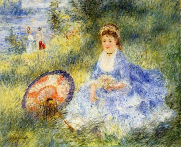 Pierre Auguste Renoir Werke - young woman with a japanese umbrella Pierre Auguste Renoir