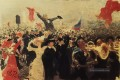 Demonstration am 17 Oktober 1905 Skizze 1906 Ilya Repin