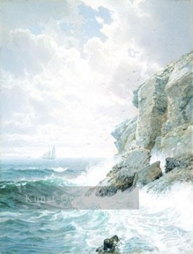 Richard Malerei - Purgatory Cliff Szenerie William Trost Richards