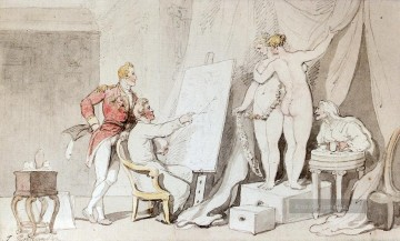 A Study In Life Drawing caricature Thomas Rowlandson