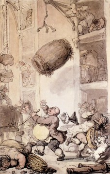 Son Galerie - Ein Fall in Bier Karikatur Thomas Rowlandson