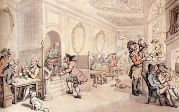 Bad Künstler - Starke Waters am Bad Karikatur Thomas Rowlandson