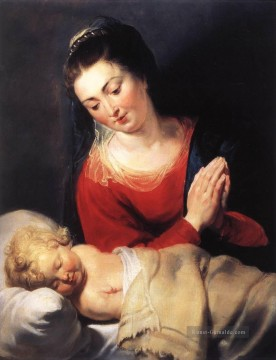 Peter Paul Rubens Werke - Virgin in Anbetung vor dem Christus Kind Barock Peter Paul Rubens