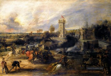 Peter Paul Rubens Werke - Turnier vor der Burg steen 1637 Peter Paul Rubens
