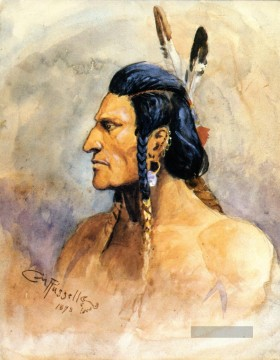 Charles Marion Russell Werke - indian brave 1898 Charles Marion Russell