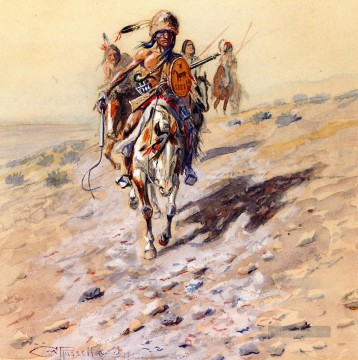 Charles Marion Russell Werke - auf der Spur 1902 Charles Marion Russell