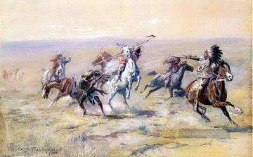 1904 Galerie - wenn sioux und foot trifft 1904 Charles Marion Russell