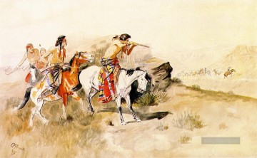 Charles Marion Russell Werke - Angriff auf muleteers 1895 Charles Marion Russell