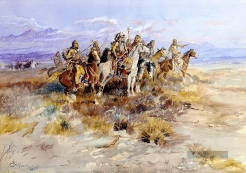 indian Scouting Party 1897 Charles Marion Russell Ölgemälde