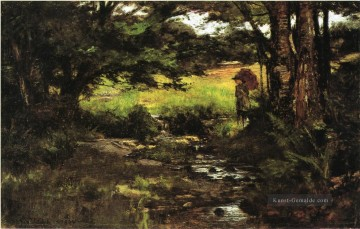 Brook in Woods Theodore Clement Steele Ölgemälde
