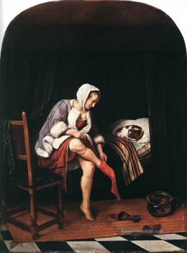 Morgen Künstler - The Morning Toilet 1665 holländischer Genremaler Jan Steen