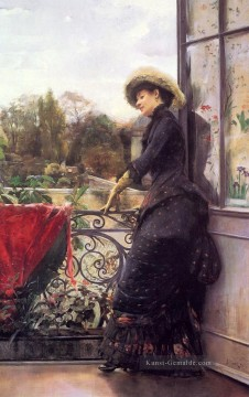 Art Galerie - On The Terrasse Frau Julius LeBlanc Stewart