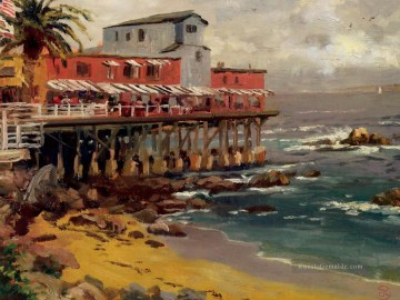 Thomas Kinkade Werke - A View From Cannery Row Monterey Thomas Kinkade