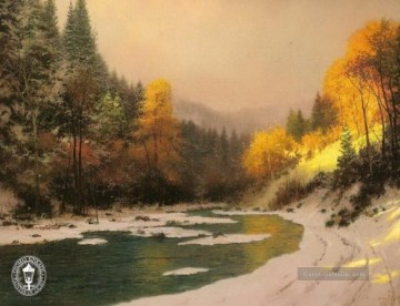 Thomas Kinkade Werke - Autumn Snow Thomas Kinkade