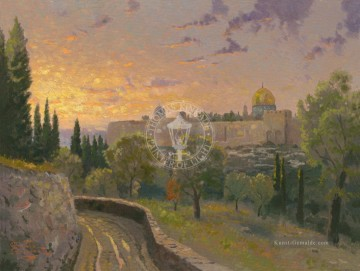 Thomas Kinkade Werke - Jerusalem Sunset Thomas Kinkade