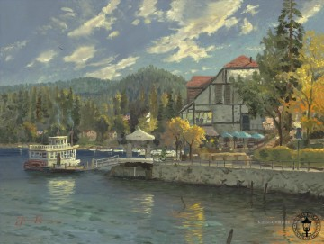 Thomas Kinkade Werke - Lake Arrowhead Thomas Kinkade