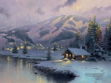 Thomas Kinkade Werke - Olympic Berg Evening Thomas Kinkade