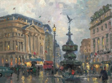 Piccadilly Circus London Thomas Kinkade Ölgemälde