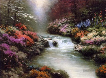 Thomas Kinkade Werke - Neben Still Waters Thomas Kinkade