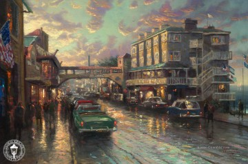 Thomas Kinkade Werke - Cannery Row Sunset Thomas Kinkade