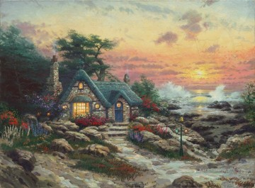 Cottage Galerie - Cottage By The Sea Thomas Kinkade