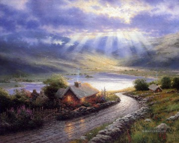 Thomas Kinkade Werke - Emerald Isle Cottage Thomas Kinkade