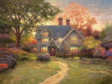 Thomas Kinkade Werke - Gingerbread Cottage Thomas Kinkade