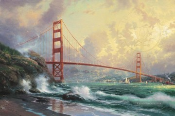 Thomas Kinkade Werke - Golden Gate Bridge San Fra Thomas Kinkade
