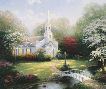 Thomas Kinkade Werke - Hometown Chapel Thomas Kinkade