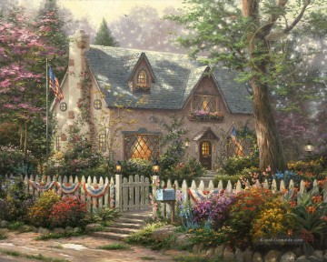 Thomas Kinkade Werke - Liberty Lane Cottage Thomas Kinkade