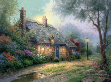Thomas Kinkade Werke - Moonlight Cottage Thomas Kinkade