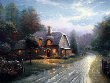 Thomas Kinkade Werke - Moonlight Lane I Thomas Kinkade