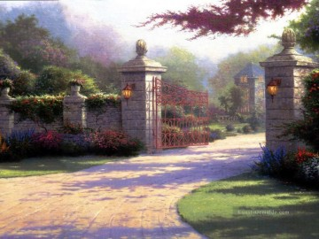 Thomas Kinkade Werke - Summer Gate Thomas Kinkade