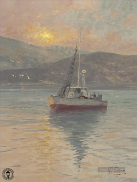 Thomas Kinkade Werke - Sunrise Sea of Galilee Thomas Kinkade