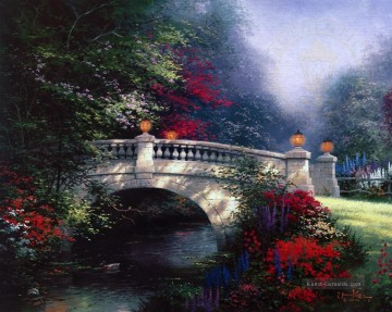 Thomas Kinkade Werke - The Broadwater Bridge Thomashire Thomas Kinkade