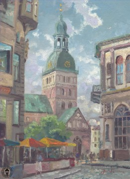Thomas Kinkade Werke - The Dome Cathedral Riga Latvia Thomas Kinkade