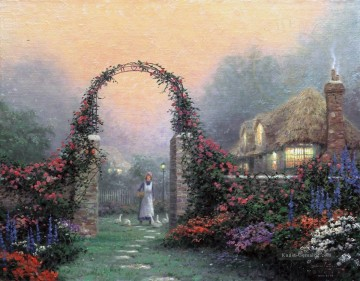 Thomas Kinkade Werke - Die Arbor Rose Cottage Thomas Kinkade