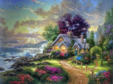 Thomas Kinkade Werke - A New Day Dawning Thomas Kinkade