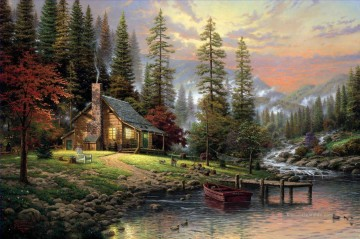 Thomas Kinkade Werke - A Peaceful Retreat Thomas Kinkade