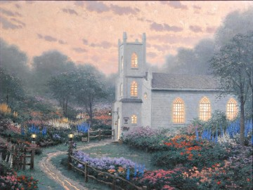 Thomas Kinkade Werke - Blossom Hill Church Thomas Kinkade