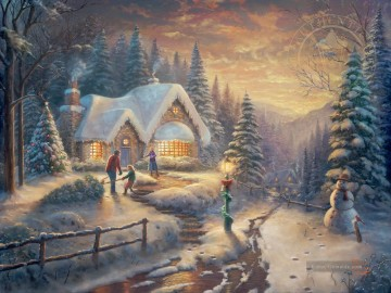 Thomas Kinkade Werke - Country Christmas Homecoming Thomas Kinkade