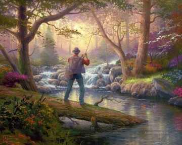 Thomas Kinkade Werke - It Doesn t Get Much Better Thomas Kinkade