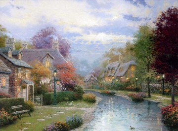 Thomas Kinkade Werke - Lamplight Brooke Thomas Kinkade