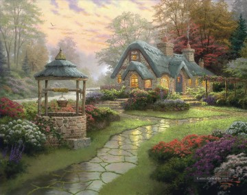 Thomas Kinkade Werke - Make a Wish Cottage Thomas Kinkade