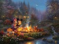 Mickey und Minnie Sweetheart Lagerfeuer Thomas Kinkade