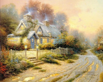 Thomas Kinkade Werke - Teacup Cottage Thomas Kinkade
