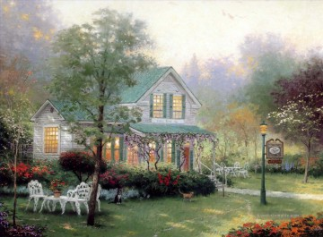 Thomas Kinkade Werke - The Village Inn Thomas Kinkade