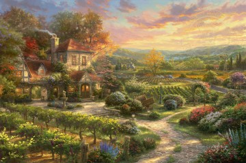 Thomas Kinkade Werke - Wine Country Living Thomas Kinkade