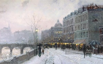 Thomas Kinkade Werke - Evening on the Seine Thomas Kinkade