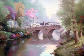 Thomas Kinkade Werke - Hometown Bridge Thomas Kinkade